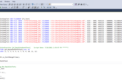 A Brief Primer in Partitioning an Existing Table in SQL Server