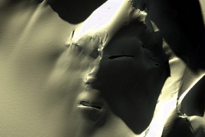 Alien Face in Antarctica Like the Face on Mars