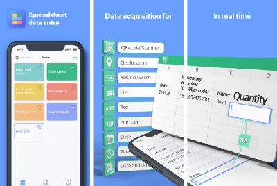 Spreadsheet data entry—how to save data in a spreadsheet from your mobile