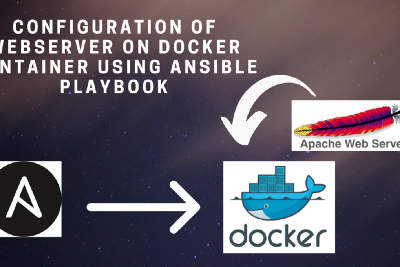 Configuration of webserver on docker container using Ansible playbook