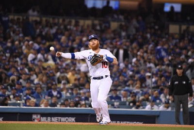 Justin Turner out of NLCS Game 2 lineup with neck stinger