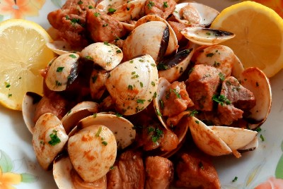 Pork Meat with Clams