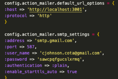 ActionMailer with GMail