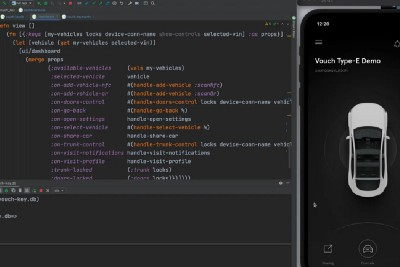 Developing mobile digital key applications with ClojureScript