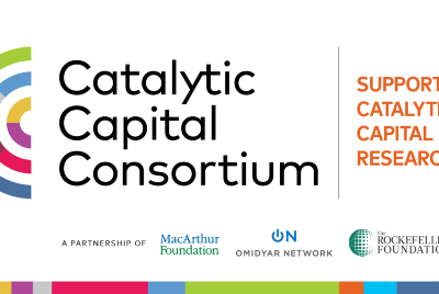 Past Use of Catalytic Capital Is Key to Its Future