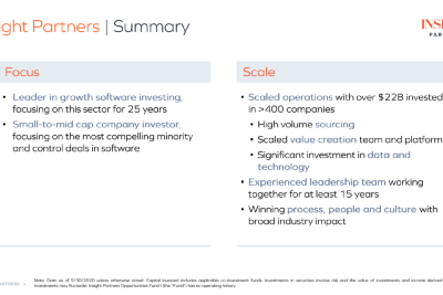 Quick notes on LPs #4- CRPTF and Insight Partners Opportunity Fund I Pitch Deck(part 1 of 3)