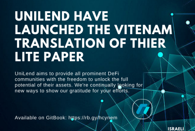 UniLend have announced its vietinamese translation of its Lite paper