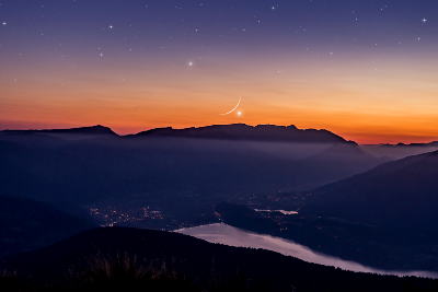 The Moon Dances With Venus and Mercury