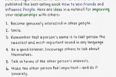 October 27: Six ways to make people like you
