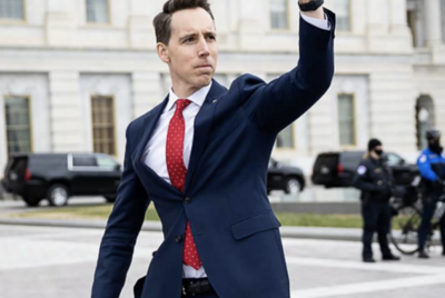 Josh Hawley's Says Fist Pump Was Meant For Tiger Woods