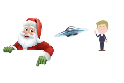 Santa Claus, UFOs, and Widespread Voter Fraud: Disinformation from High-Trust Sources