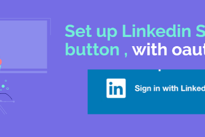 How to set up Linkedin SignIn- Login button so you can integrate it in your app (the whole…
