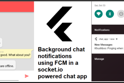 Flutter: Chat notifications using FCM in a socket.io powered chat app