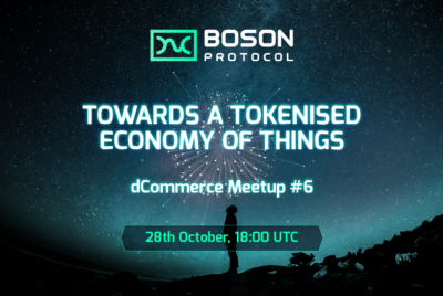 dCommerce Meetup #6—Towards a Tokenized Economy of Things