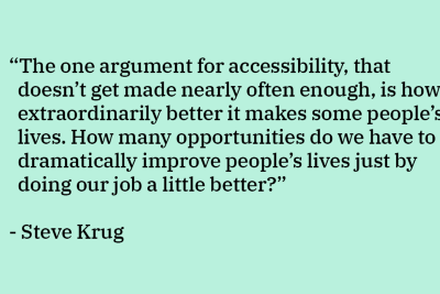 Accessibility isn't sexy… and other myths