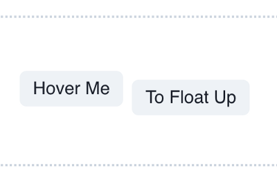 Pure CSS Float On Hover Effect