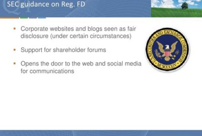 How has RegFD evolved? SEC's Rules On How to Use Social Media
