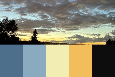 The color notes from sky #1: 210919
