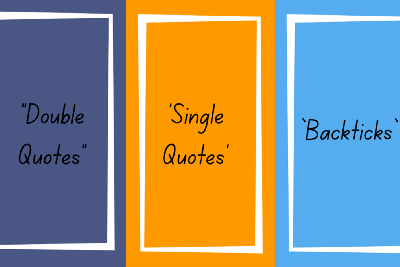 """""""Double Quotes"""" vs 'Single Quotes' vs `Backticks` in JavaScript"""