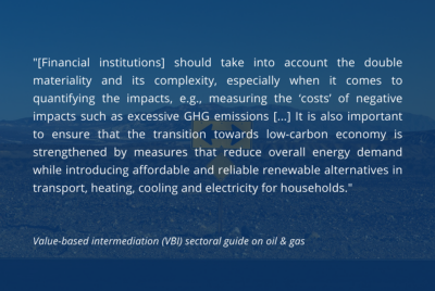 Expansion of VBI sectoral guides is good for responsible finance development