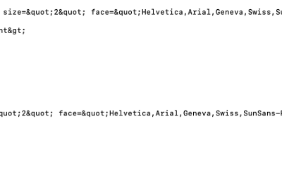 Seeing HTML in a database makes me cry