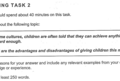 Writing Task 2 (Discussion Type)