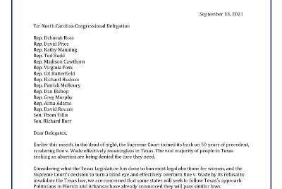 An Open Letter to North Carolina's Congressional Delegation: