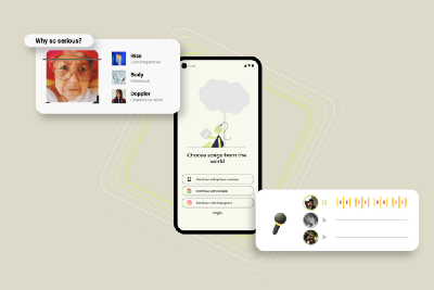 Redefining the music streaming application with a new way of listening to music with AR experience…