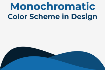 How to apply monochromatic color scheme in design?