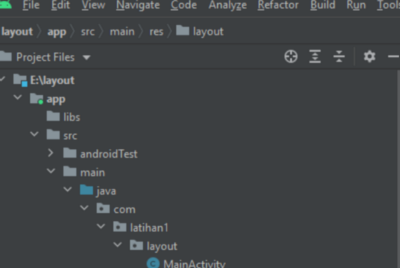Project Linear layout Android Studio