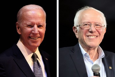 Biden, Sanders debate platforms without the crowded stage. Or a crowd.