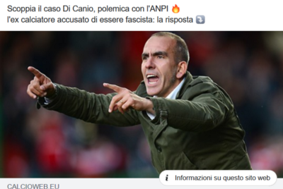 Di Canio cross with Italy's Resistance Partisans' Association (ANPI)