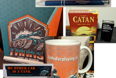 """""""Tanks! For Playing"""" launch party!"""