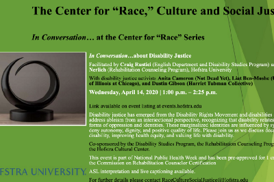 In Conversation…about Disability Justice Event | Apr. 14th @ 1PM