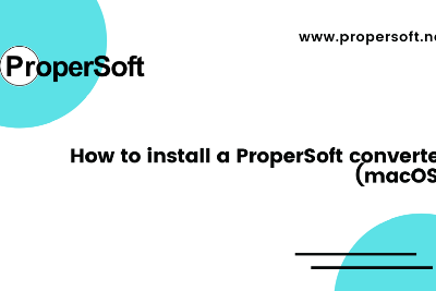 How to install a ProperSoft converter (macOS)