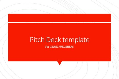 How to Make a Great Pitch Deck for a Game Publisher?