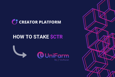 How To Stake $CTR On Unifarm