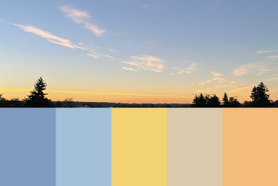 The color notes from sky #2: 210920