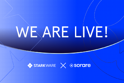 We're live on our Scaling Solution: Starkware