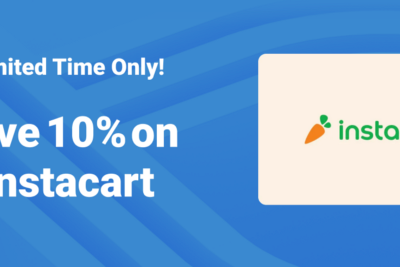 Save 10% on Instacart (US) gift cards from Bitrefill in October
