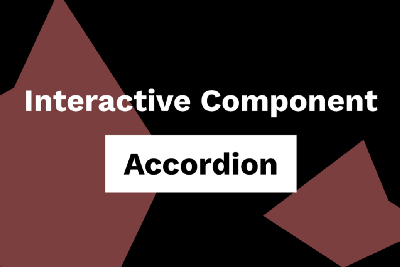 Creating complex interactions with interactive components—Accordion