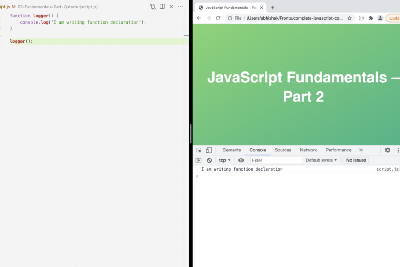 Different types of writing functions in javascript