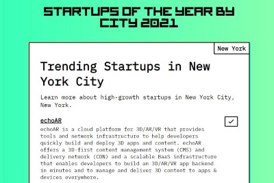 """echo3D (formally echoAR) nominated """"One of the Best Startups in NYC""""—VOTE NOW!"""