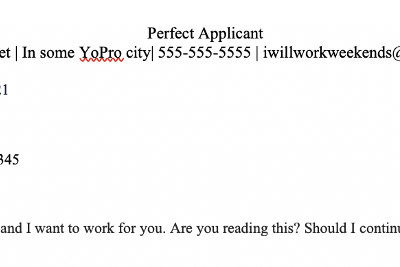 on cover letters