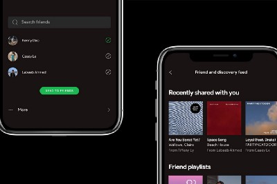 Spotify Concept: Discovering and Sharing Music with Friends
