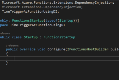 Azure Function using Dependency Injection