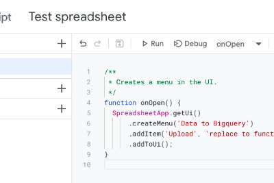 Upload data directly from Spreadsheet to Bigquery