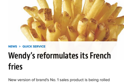 What's the relationship between Wendy's French Fries and Universities?