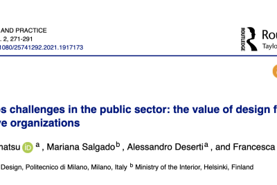Policy labs challenges in the public sector: the value of design for more responsive organizations