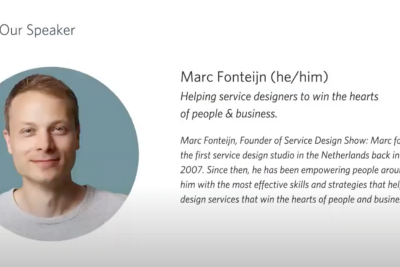 Fireside Chat with Marc Fonteijn: Explaining the Business Value of Service Design in Plain English